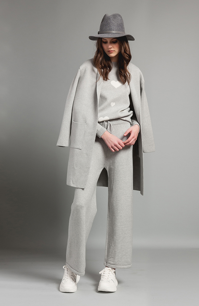 Gray Wool Coat with pockets