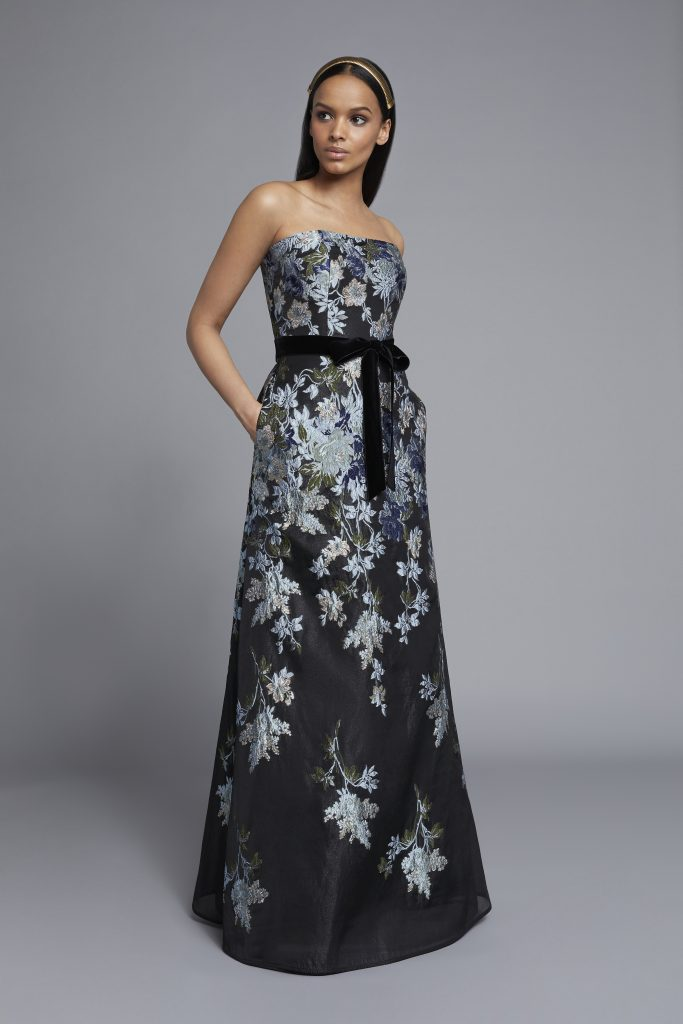 Frascara embroidered gown