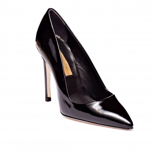 Designer Shoe Dee Keller Black Patent Leather Pump Stiletto