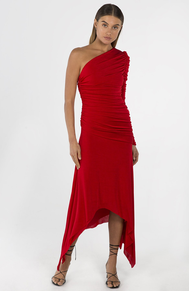 JORDANNE-MIDI-DRESS-IN-COLOUR-RED