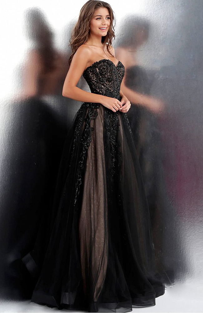 Evening Gown Prom Dress Sequin Paillettes