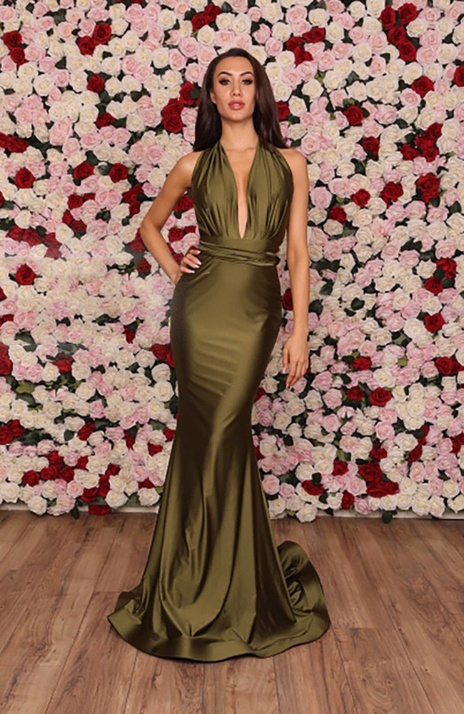 Green Prom Gown Dress Robe de Bal
