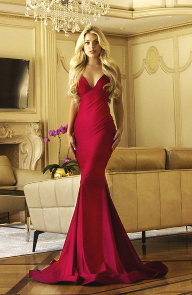 Red gown prom dress robe de bal rouge