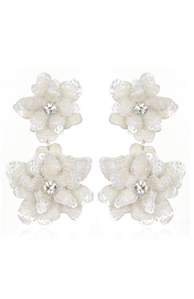 Oaxaca Flower Drop Earrings Pendants d'oreilles